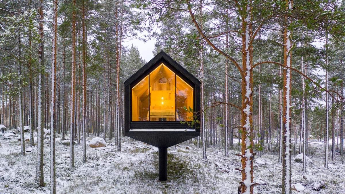 Гнездо среди деревьев: как выглядит интерьер идеального дома для релакса в Финляндии