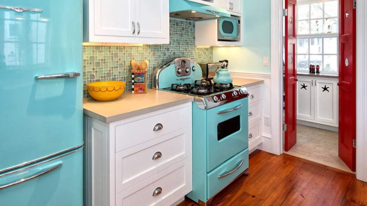 Холодильник в стиле ретро: идеи с фото