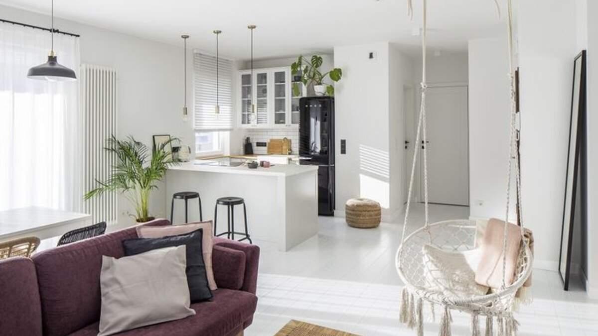 Квартира в Чернигове: фото интерьера в белом цвете