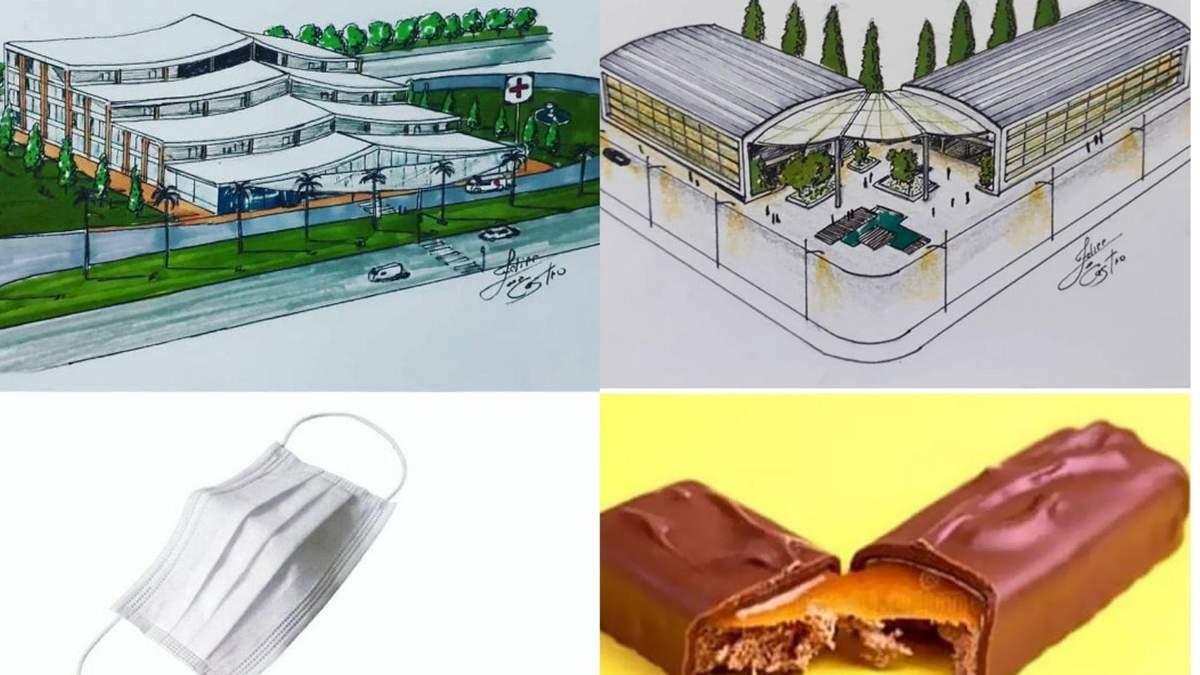 Будинок-флешка та дім-снікерс: архітектор малює будівлі у формі побутових предметів