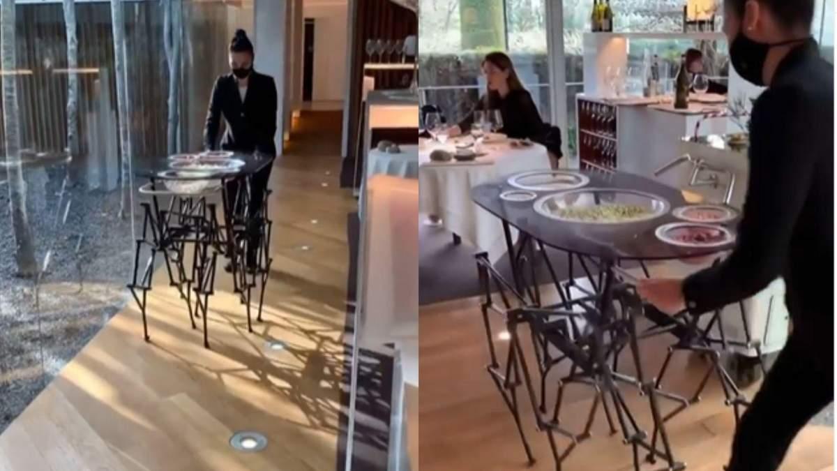 Ходить сам: як виглядає оригінальний стіл, що може гуляти – відео