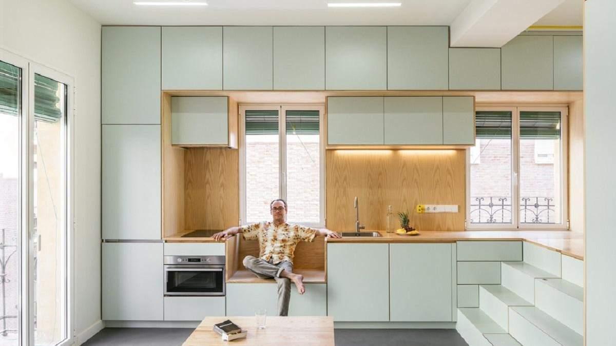 Яркая и функциональная: дизайн квартиры площадью 33 квадратных метров в Мадриде – фото