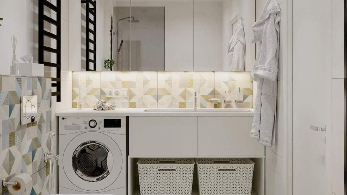 Де розмістити пральну машину: 5 ідей від дизайнерів