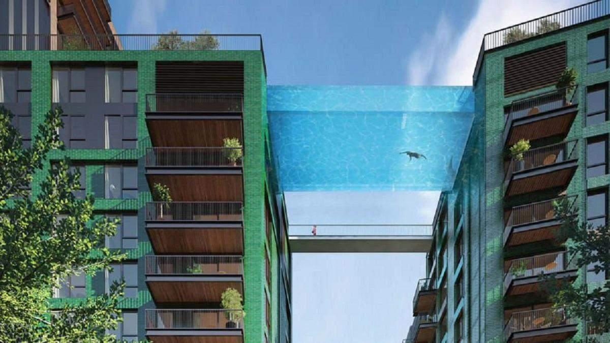 Перший у світі басейн у повітрі над вулицями Лондона: вражаючі фото