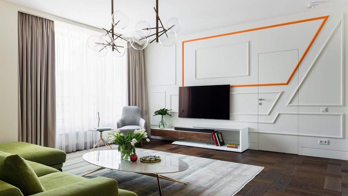 Как разместить телевизор в гостиной: фотоподборка изысканных идей