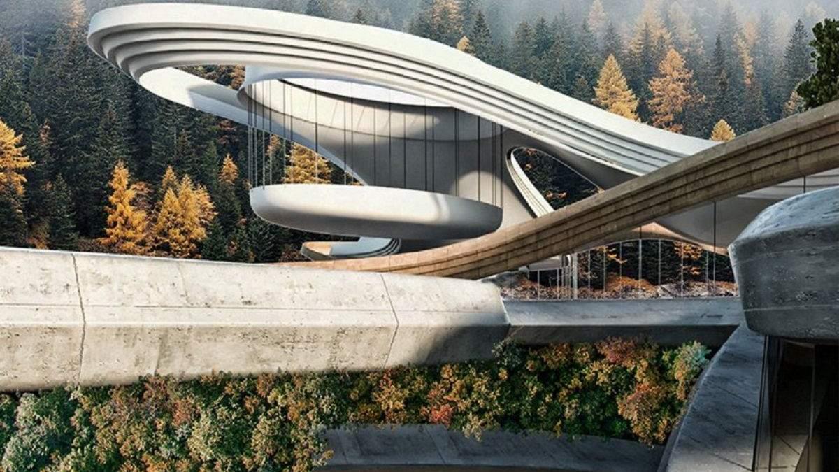 Горный дом в Швейцарии, созданный в гармонии с природой: фото