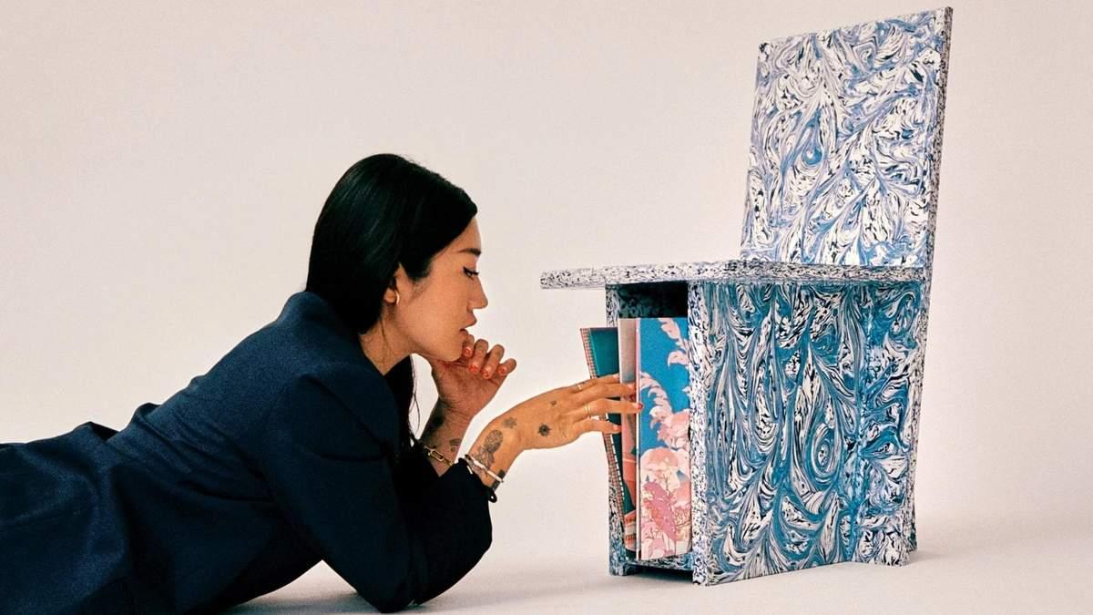 Студія Space Available та діджейка Пеггі Гоу створили меблі з пластикових відходів