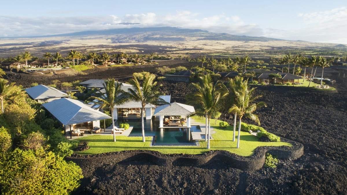 Вилла в Гавайях, расположена на застывшей лаве: фото, от которых захватывает дух
