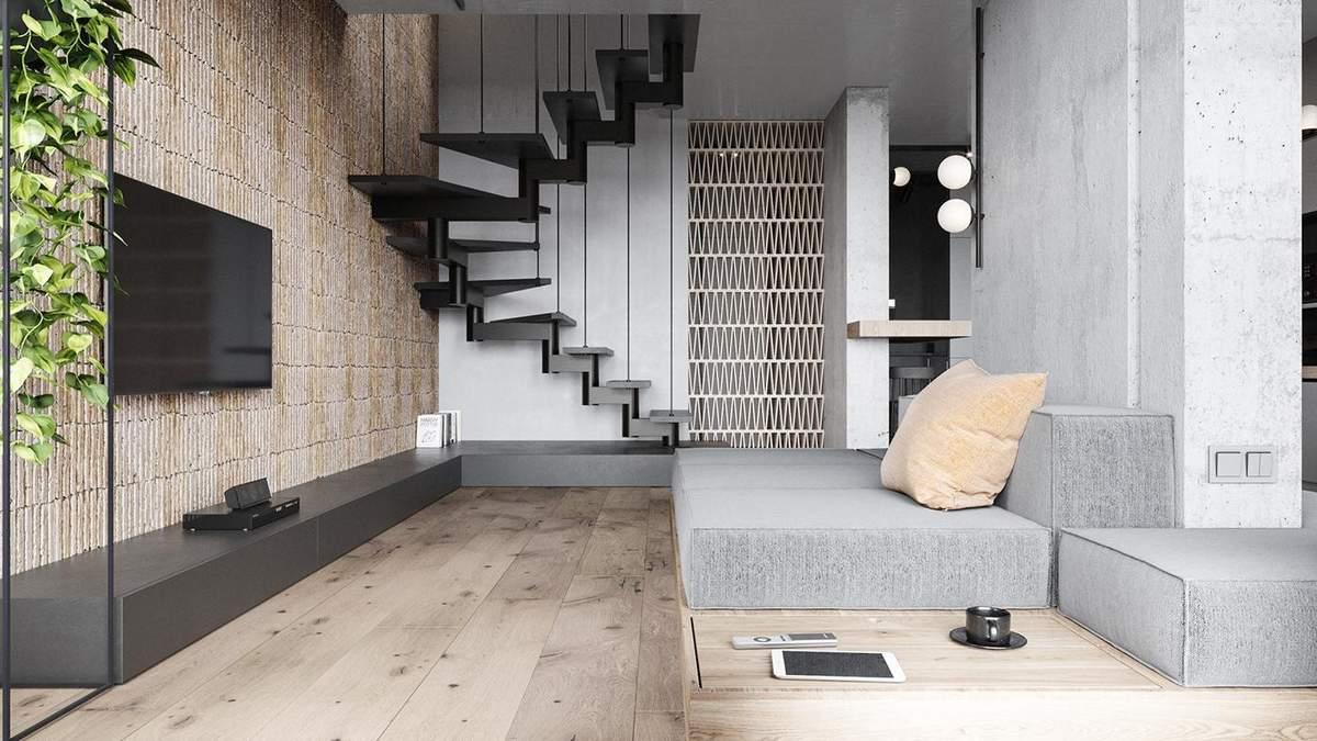 Мінімалістична дворівнева квартира у Львові, що приголомшує дизайном: фото інтер'єру