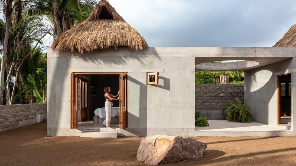 Бетонний оазис: як виглядає мексиканське бунгало, в якому захочеться провести відпустку