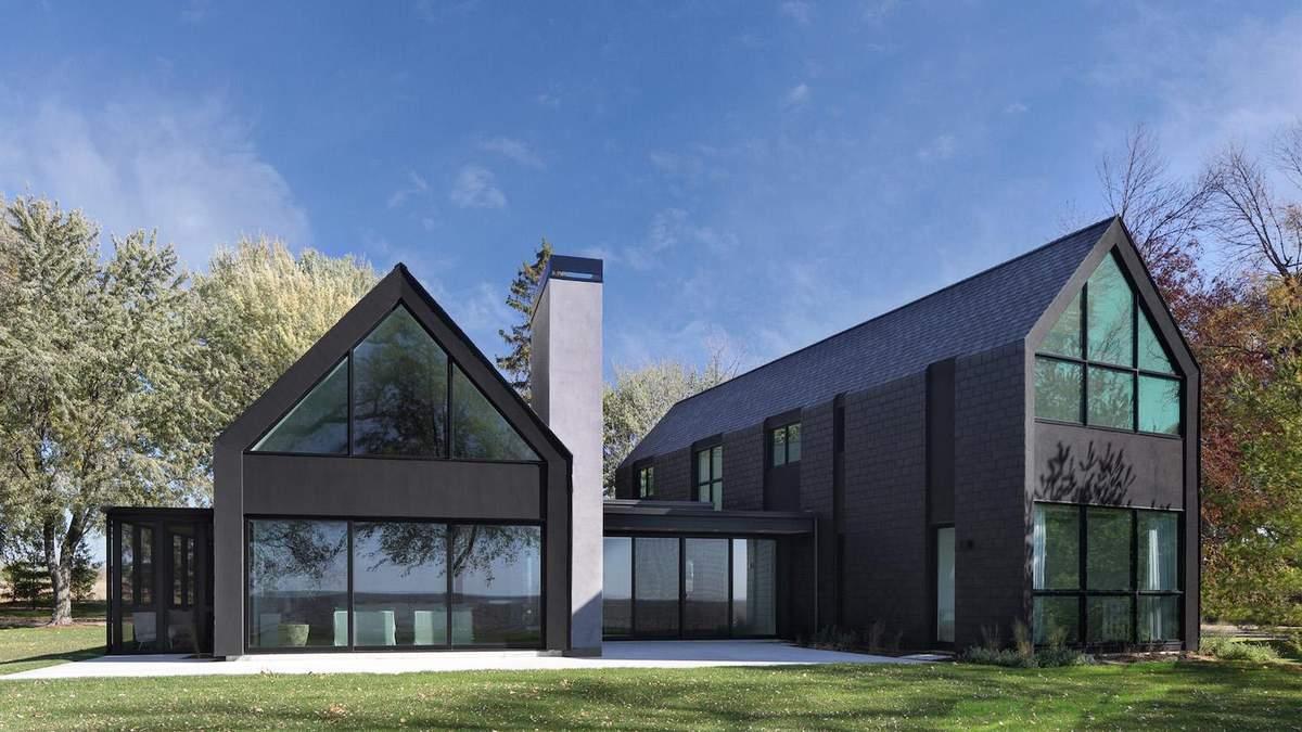 5 фантастичних будинків з двосхилим дахом: фото - Дизайн 24