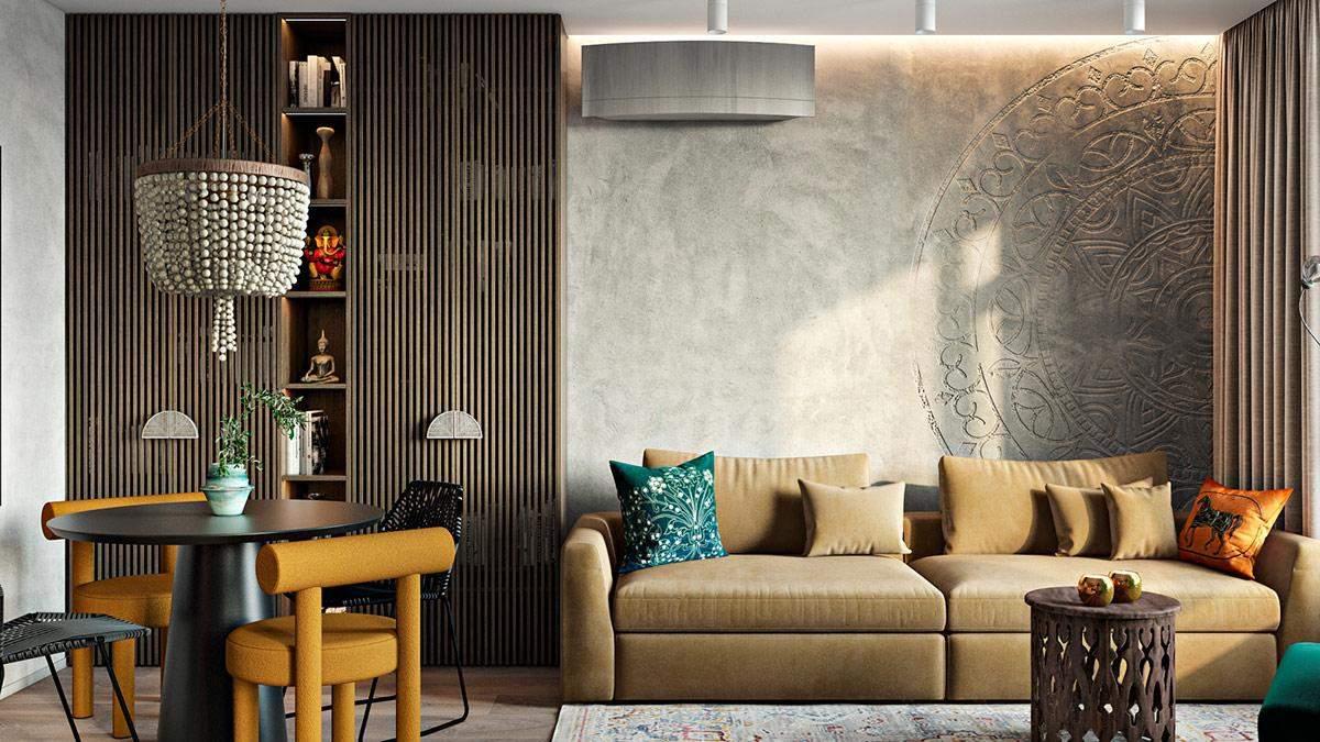 Индийский колорит в Киеве: яркое жилье с вкраплением этники и винтажа - Дизайн 24