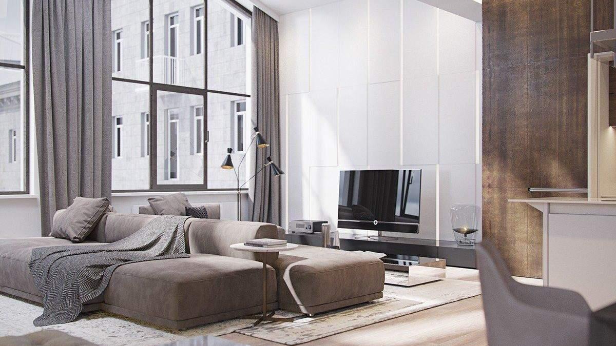 Модульні дивани в інтер'єрі