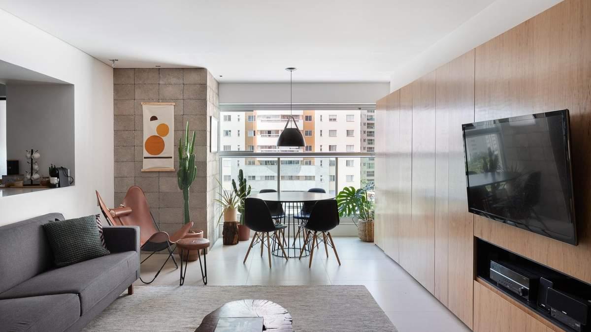 Гамак и изысканный минимализм: как выглядит невероятная квартира в Бразилии - Дизайн 24