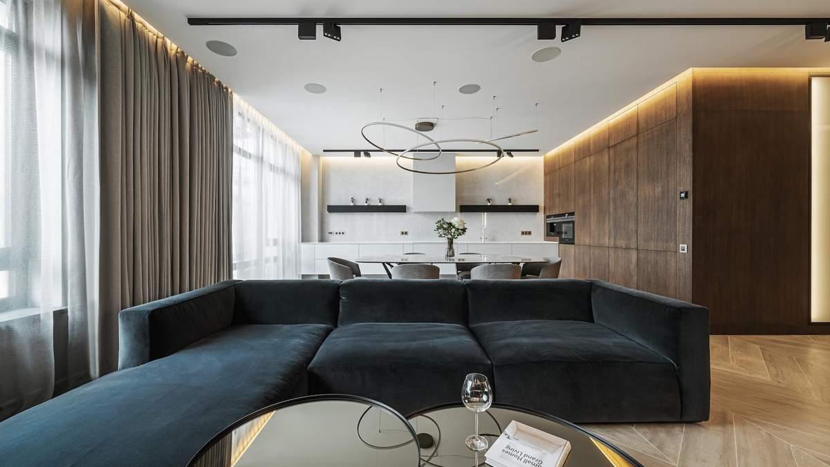 Элегантный интерьер в естественных тонах: как выглядит квартира в элитном жилом комплексе Киева - Дизайн 24
