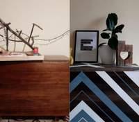 Новая жизнь стола: дизайнер виртуозно перекрашивает старую мебель