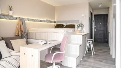 Невероятный проект: дизайнеры объединили кровать-чердак с домашним офисом