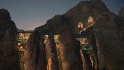 Вбудований у скелю: як виглядатиме дивовижний курорт посеред пустелі Саудівської Аравії