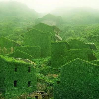 Поглинула природа: як виглядає покинуте рибальське село в Китаї – фото