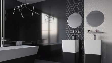 Ванная комната в черном цвете: стили и варианты сочетания оттенков – фото
