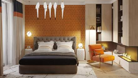 Камин в спальной комнате: преимущества электрокамина и идеи размещения