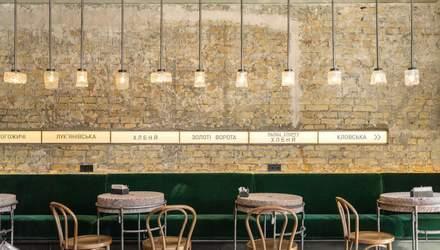 Станция Хлебный: фото стильного интерьера нового кафе в Киеве