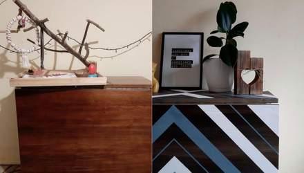 Нове життя стола: дизайнерка віртуозно фарбує старі меблі