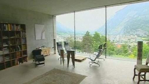 Цементний блок із вікнами - будинок у стилі мінімалізму