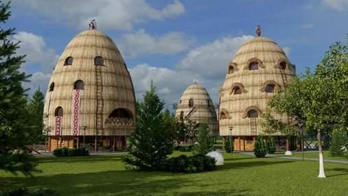 Возле Львова построят эко-отель в форме соломенных стогов