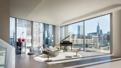 На вершине мира: чем поражает интерьер пентхауса в доме Захи Хадид в Нью-Йорке