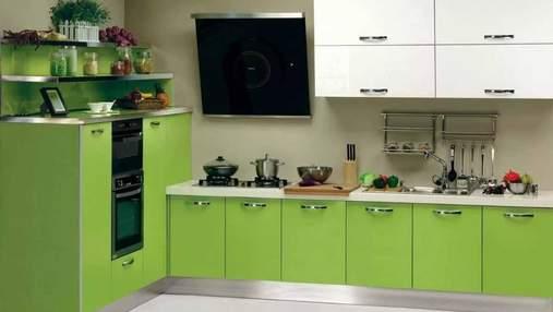 Дизайн салатовой кухни: с какими цветами стоит сочетать – фото