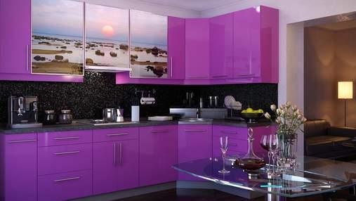 Кухня в фиолетовых тонах: особенности и варианты сочетания цветов – фото