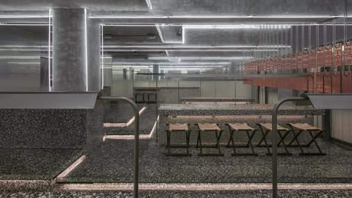 Суцільний граніт: неординарний інтер'єр ресторану з Китаю – фото