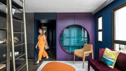 Японський стиль в інтер'єрі: фото кольорової квартири з Бразилії