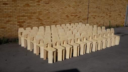 60 стульев за 3 дня: безумный эксперимент от британского дизайнера – фото, видео