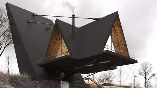 В США построили футуристический дом над пропастью: фото впечатляющего интерьера