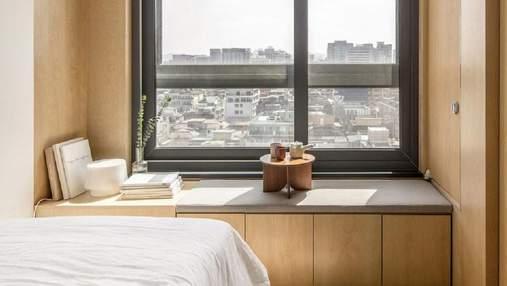 Вневременной минималистичный интерьер в Корее для микроквартиры: уютные фото проекта