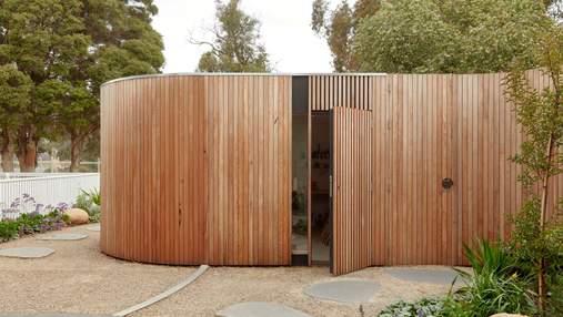 Необычный дом с внутренним двориком для художника: фото проекта в Мельбурне