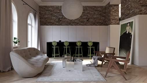 Стара архітектура зі стильними рішеннями: як дизайнери осучаснили квартиру в Києві – фото