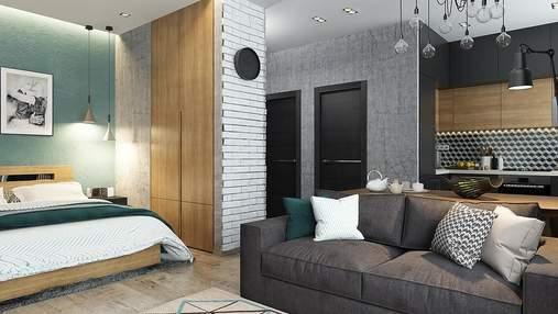 Стильний дизайн для квартир площею до 50 квадратних метрів