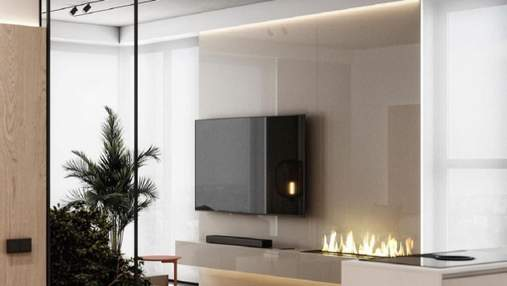 Как стильно обустроить стену за телевизором: фотопримеры