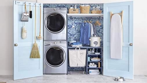 Де приховати пральну машинку та кошик для білизни: секрети облаштування мініпральні