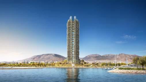 Первая зеленая многоэтажка в Греции от Foster+Partners: фото проекта, что поражает