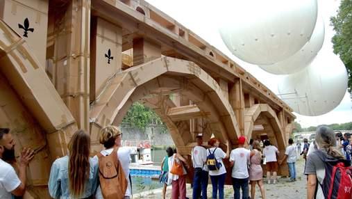 Осуществили замысел Микеланджело: в Риме появился летучий мост – зрелищные фото