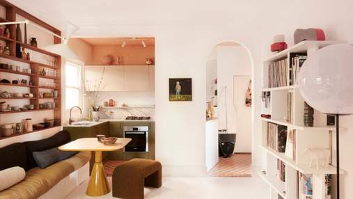 Эклектика в квартире, площадью 55 квадратных метров: проект современного дома в Австралии