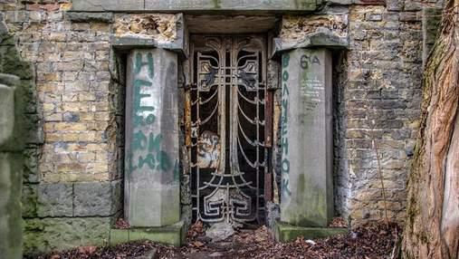 У Києві зникла металева хвіртка зі склепу на Байковому цвинтарі: їй понад 100 років