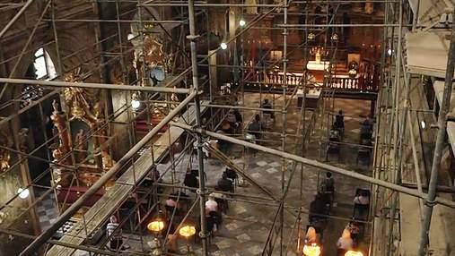 Унікальна святиня Львова: як реставрують Гарнізонний храм Петра і Павла – відео