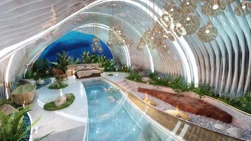 """Внутри раковины: концепт футуристической спальни """"на дне океана"""""""