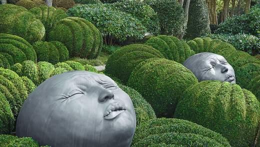 Огромные головы на кустах и космические пейзажи: как выглядит сад эмоций во Франции