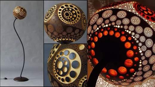 Гра світла: польський майстер робить дивовижні лампи з африканського гарбуза